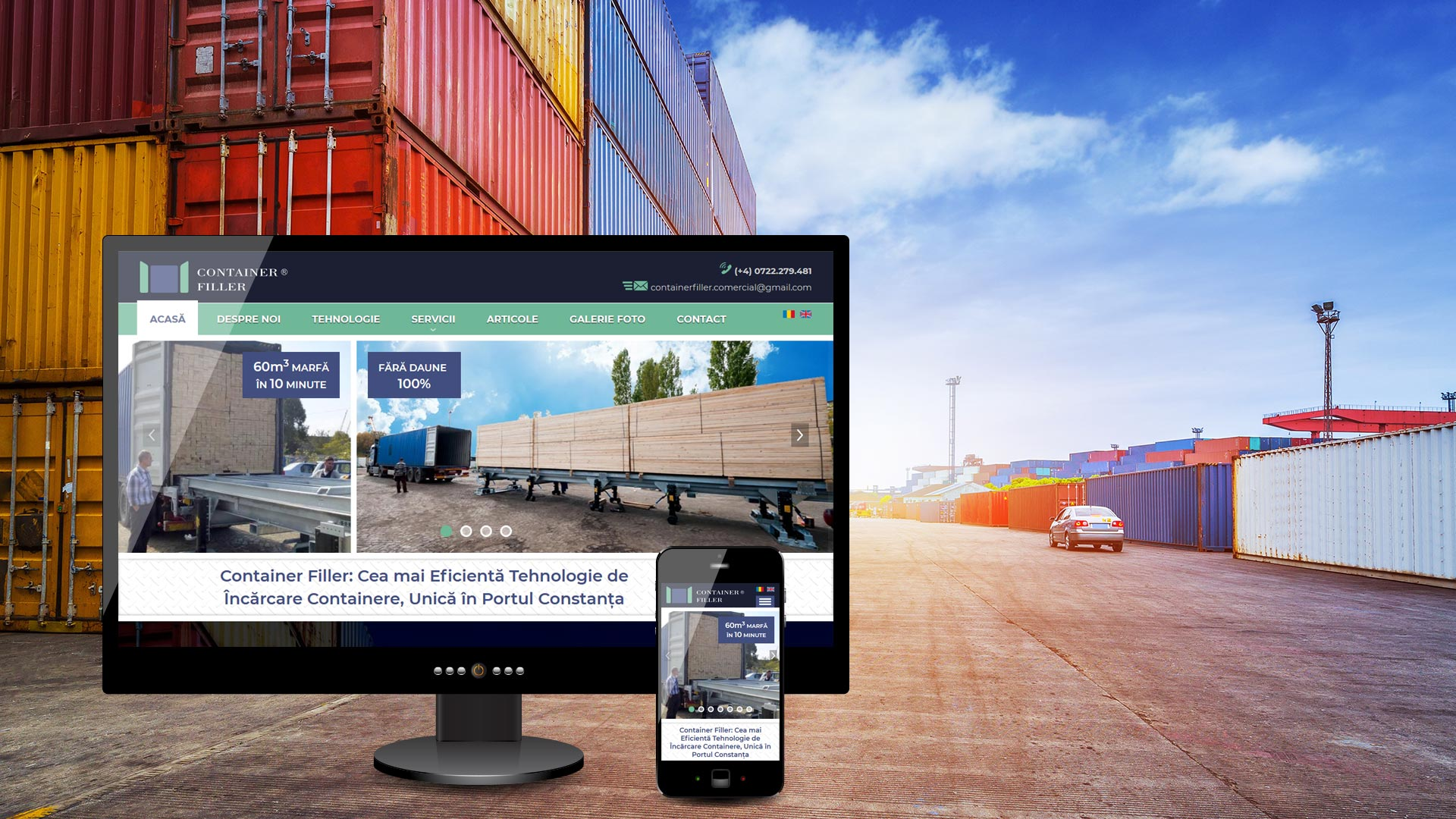 Container Filler WebDesign